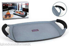 SALE!! MARBLE GRILL PAN 47X30 WITH SILICONE HANDLES WAS £39.99!!!!!