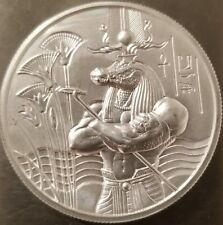 2 oz .999 silver SOBEK Egyptian God high relief Art round New 3d Elemetal gator
