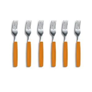VICTORINOX ORANGE TABLE FORK Forks Cutlery Table Dinner SET 6