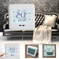 Digital Thermostat Raumtemperaturregler Fußbodenheizung LCD Touchscreen Weiß
