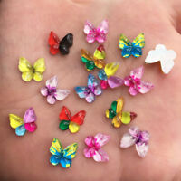 New 80pcs Mix resin Colorful Butterfly Flatback rhinestone scrapbook wedding DIY