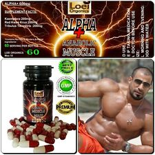ANABOLIC STRONGEST ALPHA PLUS MASS BODYBUILDING SUPPLEMENT CAPSULES PURE MUSCLE