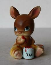 Bunny Rabbit Figure Josef Originals Bunny Hutch Baby Peanut Butter Jam Ceramic