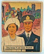 #100 King George VI and Queen Elizabeth  WAR GUM 1942