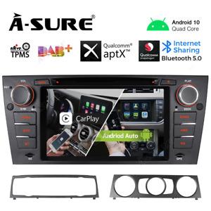 Android 10 CarPlay Stereo DVD WIFI GPS SatNav Auto Radio For BMW E90 E91 E92 E93