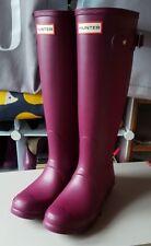 Hunter Wellies Original Tall Womens Purple Violet Wellington Boots Size 4 BNIB