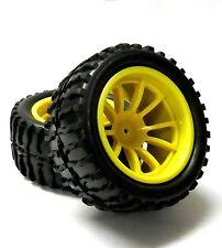 08010 yspk 1/10 Escala Off Road Neumáticos De Camión Monstruo & Rueda x 2 Amarillo