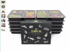 Reusable Plastic Food Storage Containers with Lids.
