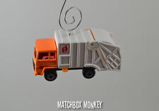 Orange Garbage Trash Refuse Truck Custom Christmas Ornament Waste Management