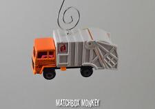 Orange Garbage Trash Refuse Truck Custom Christmas Ornament Waste Management