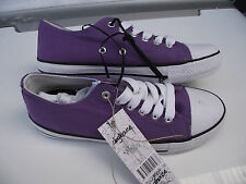 BNWT Ladies Sz 6 Rivers Doghouse Brand Pretty Hot Purple Lace Up Jogger Shoes