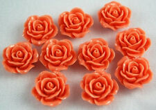 10 Dark Pink Flowers Resin Flatbacks Scrapbook Cabochons Bow Jewelry Making