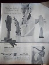 1955 Vintage Van Raalte Reindoe Easter Gloves Hosiery Stockings Slip Ad