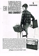 PUBLICITE ADVERTISING  1964   SIEMENS  transistor CLUB  45