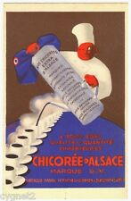 POSTCARD FRENCH CHICOREE D'ALSACE COFFEE SUBSTITUTE SIGNED G. FAVRE