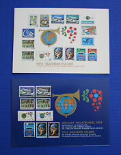 United Nations: 1974 Souvenir Folders set with MNH stamps