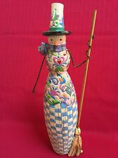 "Jim Shore Heartwood Creek ""Happy Home Snow Woman"" Figurine 2004 Euc"