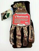 Huntworth Mossy Oak Gunner Midweight Hunting Gloves Camo Mens M/L New!