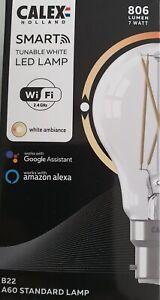 GLS 7W CALEX SMART VINTAGE LED TUNABLE WHITE BC/B22  806lms WiFi BULB 429014