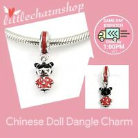 New Authentic Genuine PANDORA Chinese Doll Dangle Charm -791431ENMX RETIRED