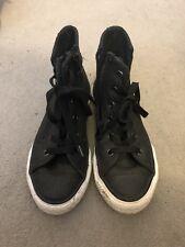 "Black ""leather Look"" Unisex Convers UK Size 12.5"