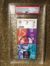 1993 NBA Finals CHICAGO BULLS -PHOENIX SUNS Ticket StuB MICHAEL JORDAN Ring PSA