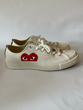 Comme des Garcons Play Converse Sneakers White Lo-Top