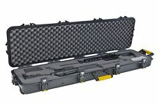 Plano Double Scoped Rifle Hard Case w/Wheels Gun Storage Hunting Watertight NEW