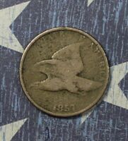1857 FLYING EAGLE CENT COLLECTOR COIN FOR YOUR SET OR COLLECTION.
