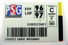 ANCIENNE CARTE EURODISNEY / FFF-PSG / FOOTBALL SAISON 96/97