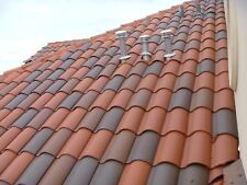 S type Clay Roof Tile Roofing Spanish Mediterranean Rustic Look Terracotta Red