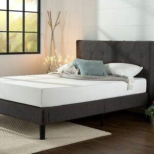 Zinus Shalini Upholstered Platform Bed Frame / Mattress Foundation / Queen