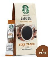 72 Single Serve Starbucks VIA Brew Pike Place Roast Coffee BBD 4/2019