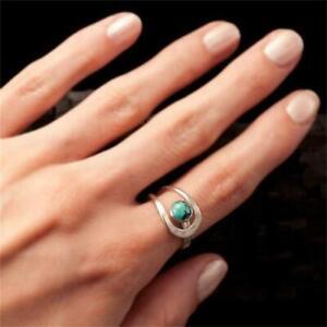 Turquoise Boho Ring Women Jewellery Gypsy Bohemian Ethnic Style LC