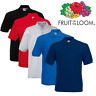 Fruit Of The Loom MEN'S PIQUE POLO SHIRT POCKET SMART GOLF TENNIS COLLAR S-3XL