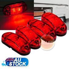 4X12V LED Side Marker Light Clearance Indicator Lamp RV Trailer Truck Camper Bus