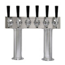 6 Faucet Draft Beer H Tower - Stainless Steel - Commercial Bar/Restaurant Beers