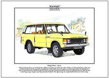 RANGE ROVER - CLASSIC - Fine Art Print - A4 size picture - Four wheel drive icon