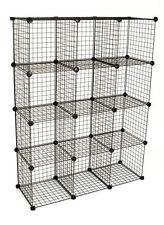 Mini Grid Shelf Unit Gridwall Panel Shelves Retail Display Fixture Black NEW
