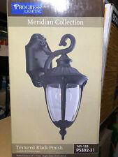 Progress Lighting Meridian Collection 1-Light 14.9 in. Outdoor Textured Black