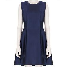 Adam Lippes Elegant Midnight Navy Blue Trapeze Dress US4 UK8 IT40