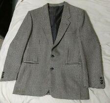 VTG Yves Saint Laurent YSL Wool Sports Coat Blazer Men sz 42 R Black White
