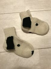 Knitted wool socks Dog Handmade  kid's socks