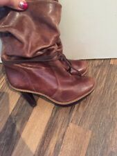 Gorgeous Brown Leather Ankle Boots French Connection Size 5