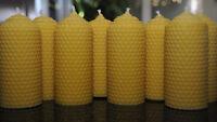 8 Stumpen 100% Bienenwachskerzen Beeswax candlelight Kerzen Geschenkidee