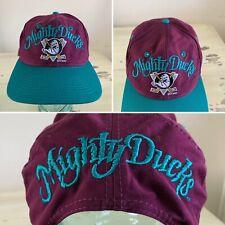 ANAHIEM MIGHTY DUCKS - Vtg 90s NHL Hockey SnapBack Hat Cap - NEW!!