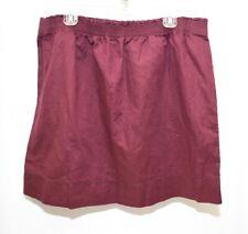 EDDIE BAUER Solid All Purple Maroon Stretch Waist Linen Blend Skirt Womens XL