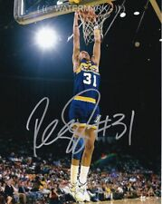 REGGIE MILLER SIGNED AUTOGRAPH 8X10 PHOTO INDIANA PACERS