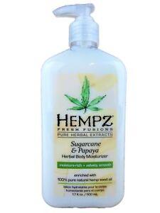 NEW Hempz SUGARCANE & PAPAYA Fresh Fusions Moisturizer Lotion 17oz Bottle