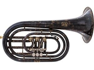 Krinner Basstrompete Goldmessing Antik-Lack